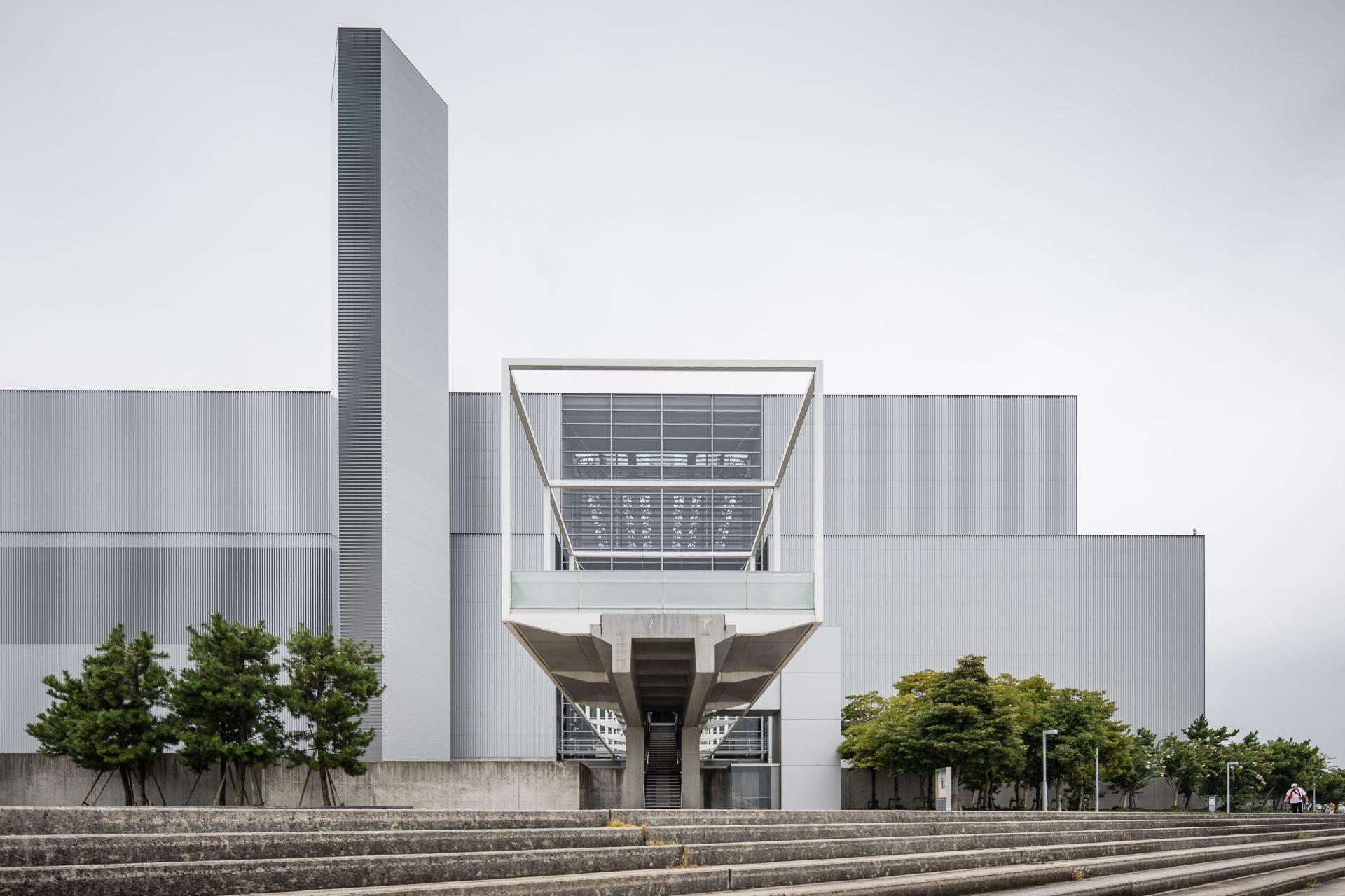 Müllverbrennungsanlage, Taniguchi in Hiroshima, Architekt Yoshio Taniguchi