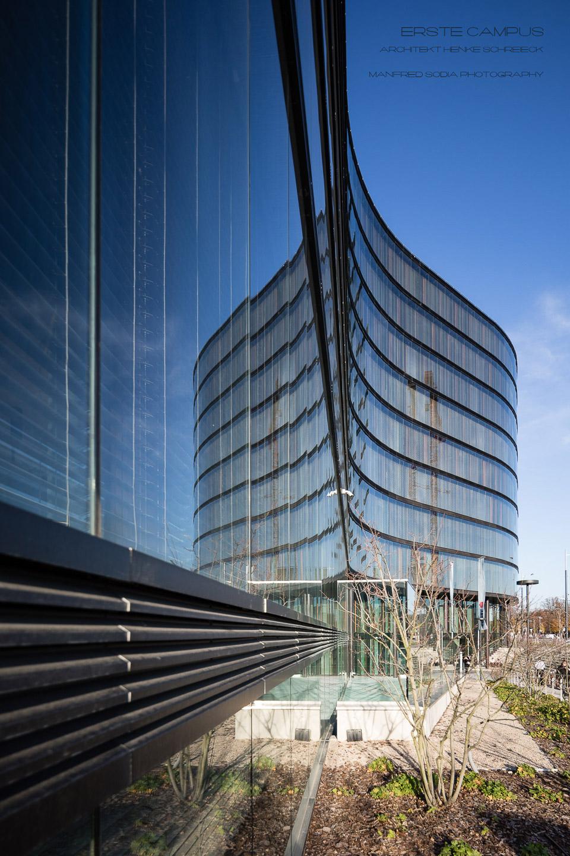 Erste Campus in Wien, Architekt Henke Schreieck, Bild von MANFRED SODIA photography