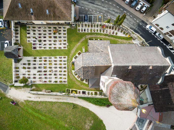 Kirche von oben, Tiers, Südtirol, MANFRED SODIA photography